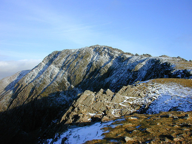 The summit of Cadair Idris, from the west