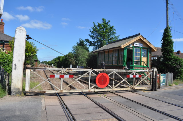 Harling Road Level Crossing and Signal Box