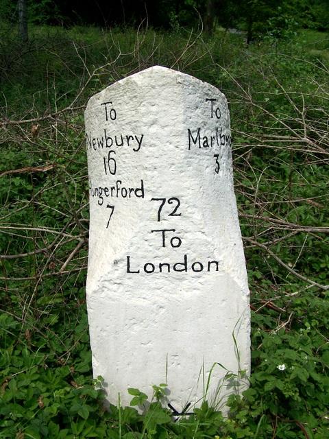 Milestone near Mildenhall
