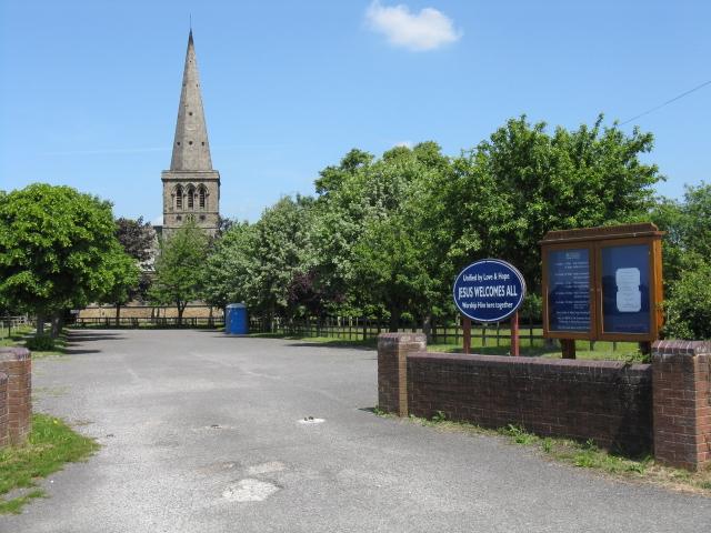 Entrance to St John the Evangelist church, Sandbach Heath
