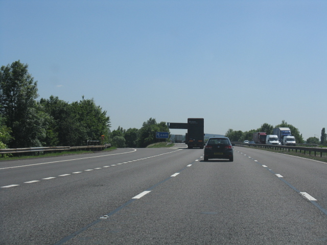 M6 motorway at junction 13, southbound