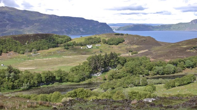View westwards from Brae on the Isle of Raasay