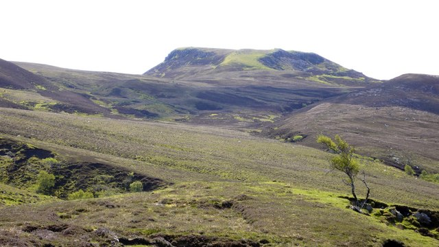 Moorland and hills in north east Raasay
