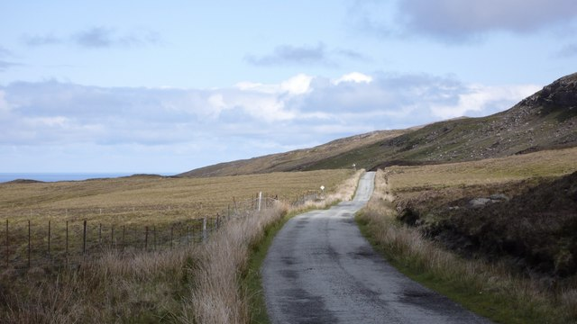 The road north to Brochel and Arnish - Isle of Raasay