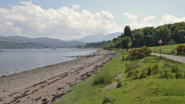 Shore at An Camas Aseig, Loch Linnhe