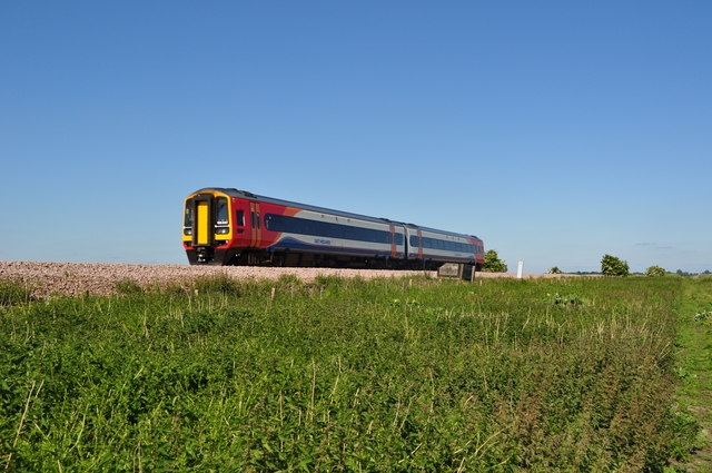 East Midlands 158847 going to Norwich