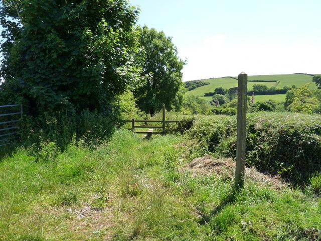 A footpath on Adwell Lane