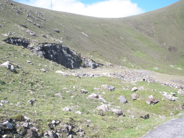 Quarry used in the construction of the road to the tracking station