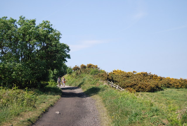 The old railway line climbs out of Robin Hood's Bay