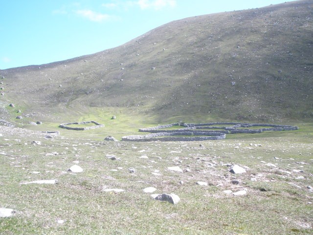 Sheep enclosures at An Lag Bho'n Tuath