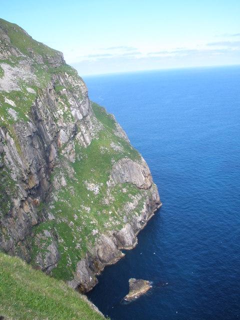 Cliffs near Sgeir Dhomhnuill