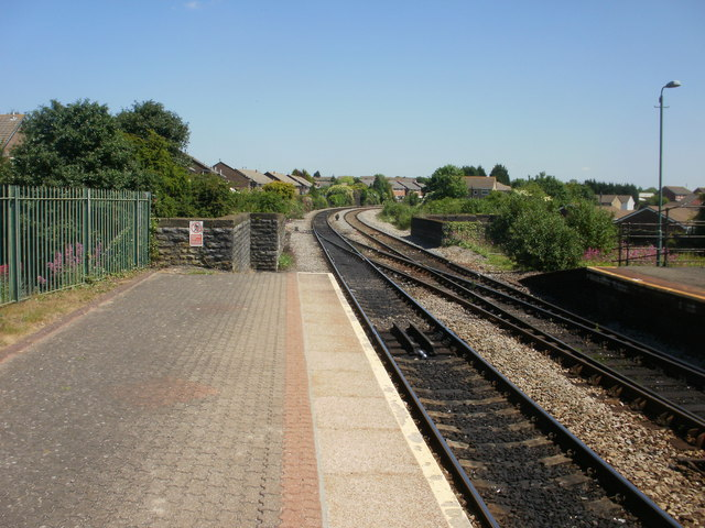 The view NE from Cadoxton Railway Station
