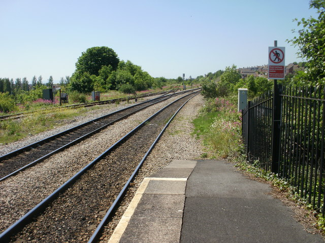 The view SW from Cadoxton Railway Station