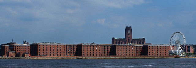 The Albert Dock with the Anglican Cathedral beyond