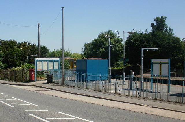 Entrance to Dinas Powys railway station