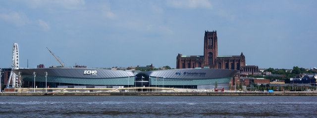 The Echo Arena and the Anglican Cathedral
