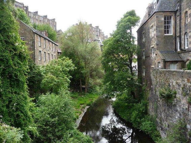 Upstream of Old Dean Bridge