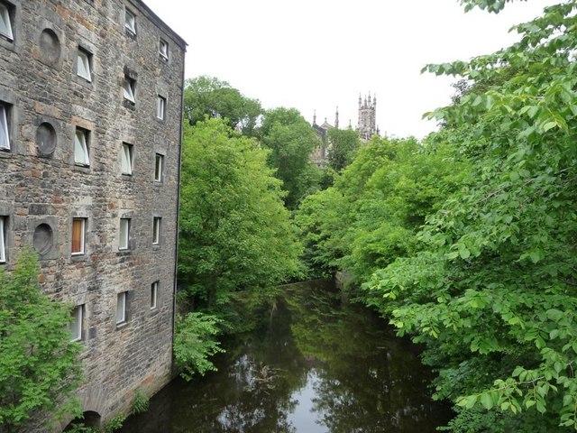 Downstream of Old Dean Bridge