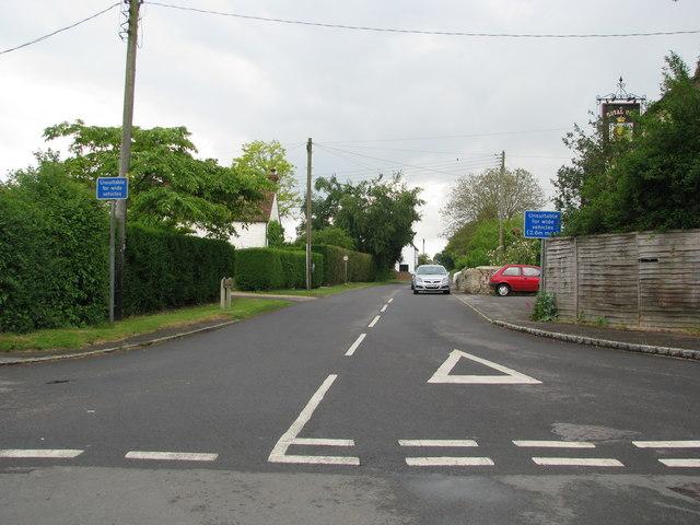 Top of Bridge Road in Ickford Village