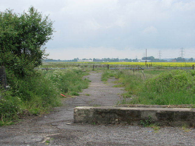 Track into the disused airfield at Worminghall