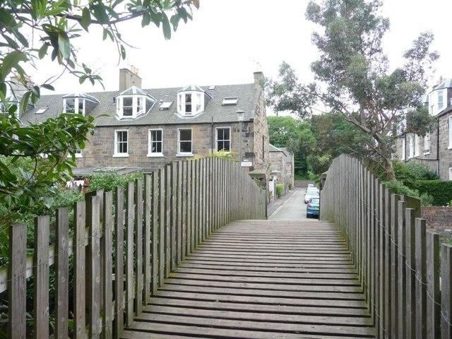 Footbridge across the Water of Leith