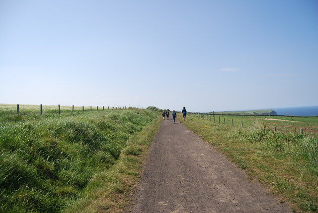 Walkers on the old railway line