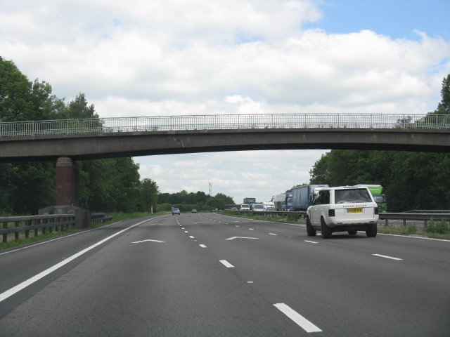 M6 motorway - farm access overbridge north of Blakelow