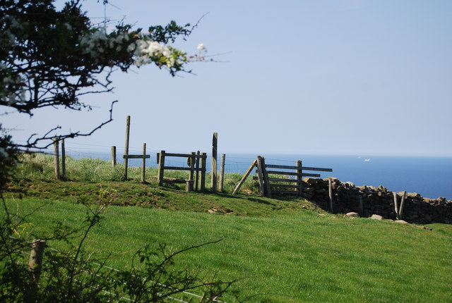 Stile over a fence by the old railway