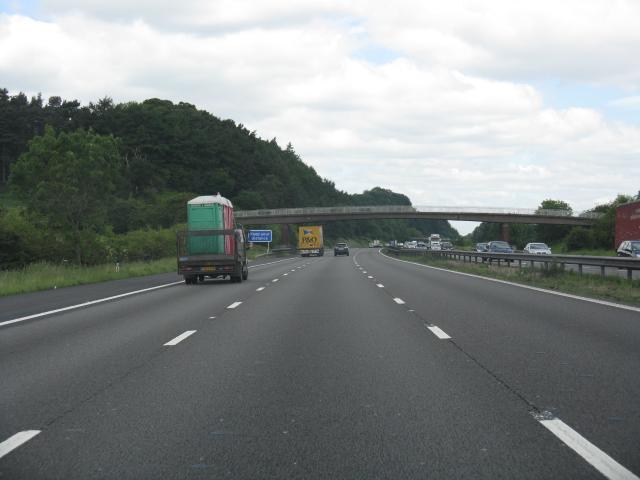 M6 motorway - footbridge near Beech House Farm