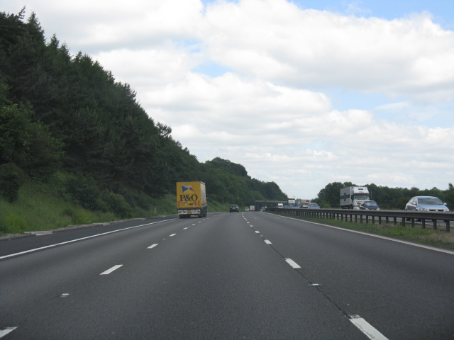 M6 motorway at Beech House Farm