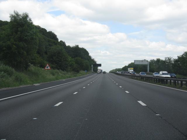 M6 motorway north of Beech Bridge