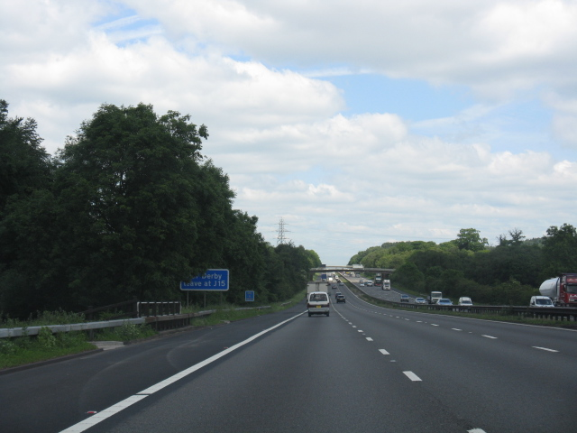 M6 motorway - long straight near Knowl Wall