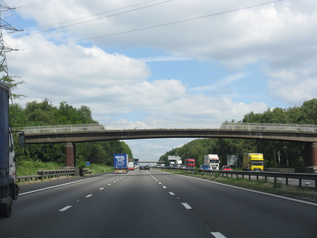 M6 motorway - overbridge at Knowl Wall