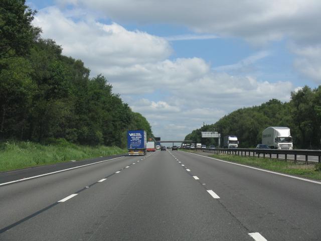 M6 motorway north of Knowl Wall