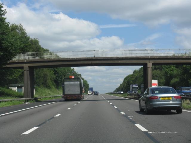 M6 motorway - overbridge near The Toft