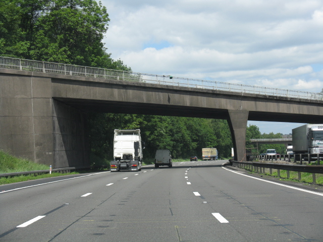 M6 motorway - Hanchurch overbridge