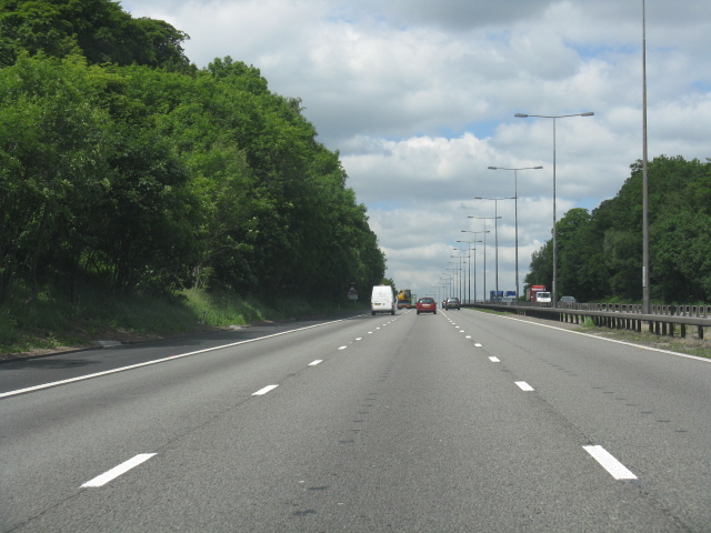 M6 motorway - climbing to Keele services