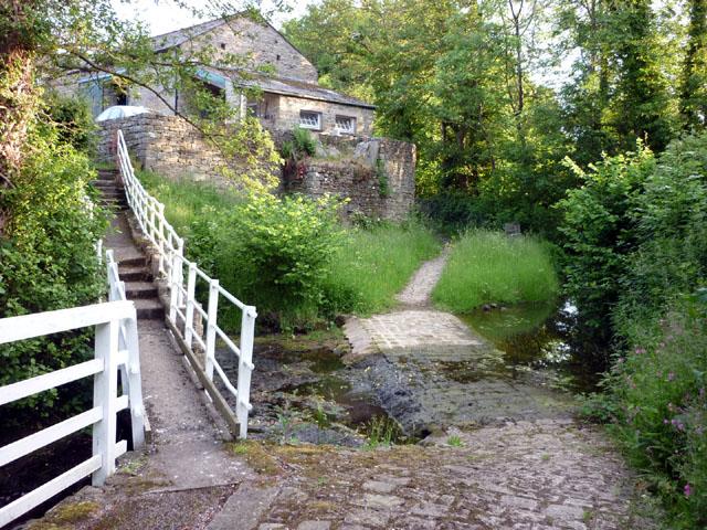 Footbridge and ford, Gressingham