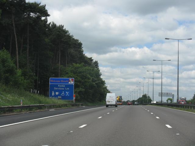 M6 motorway - half-mile to Keele services