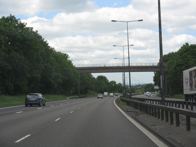 M6 motorway - Silverdale branch railway bridge