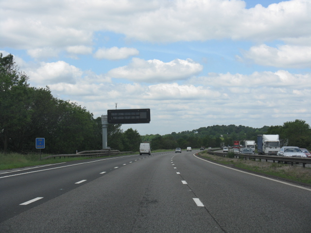M6 motorway - sweeping curve near Hungerford House Farm