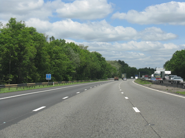 M6 motorway near Madeley