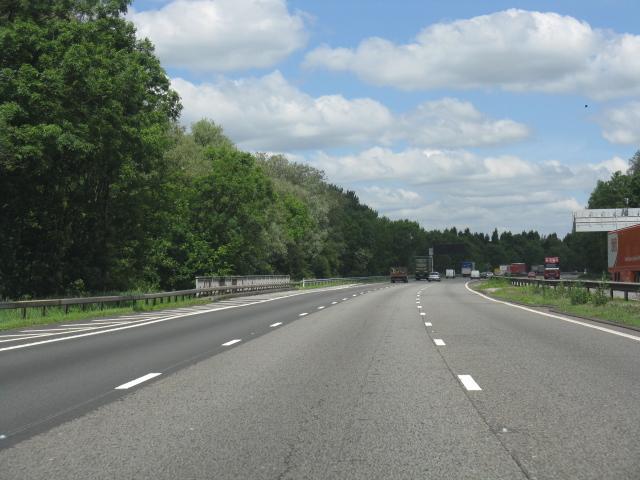 M6 motorway bridges the A525