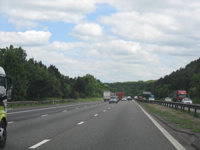 M6 motorway approaching Walton's Wood