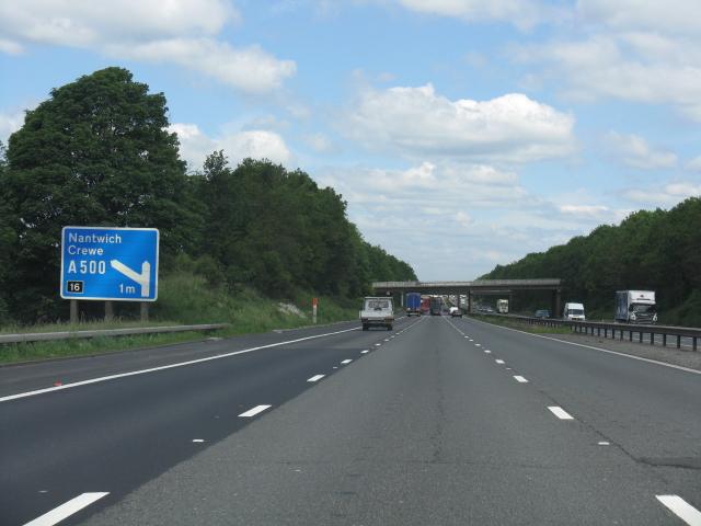 M6 motorway - 1 mile to junction 16