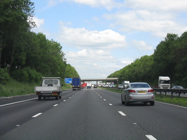 M6 motorway - approaching junction 16
