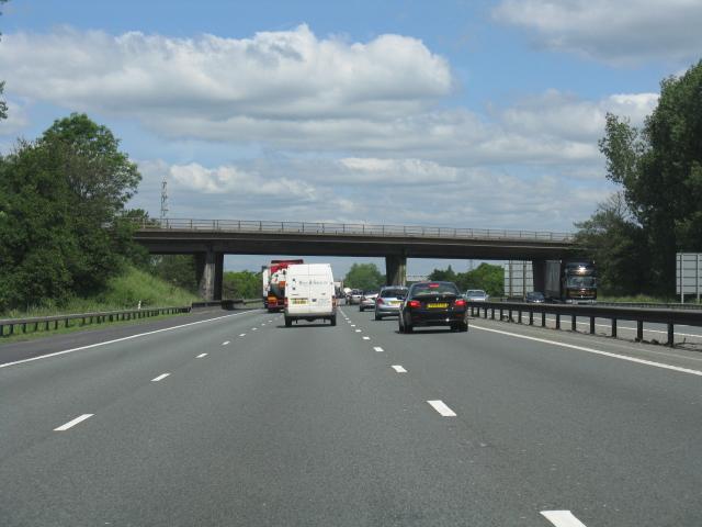 M6 motorway - B5078 overbridge