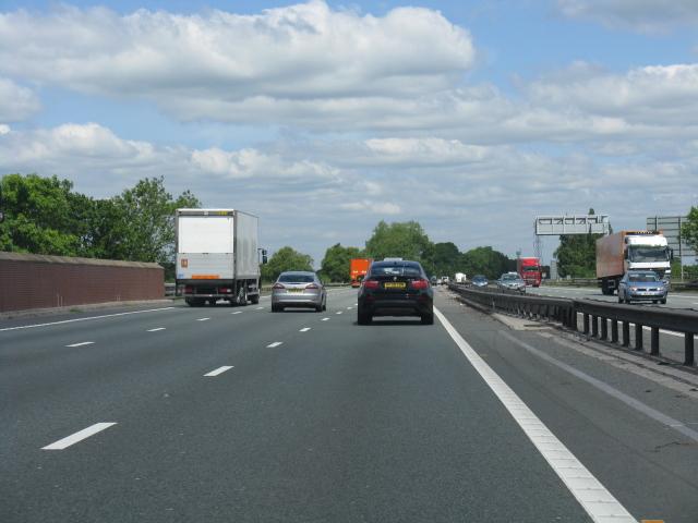 M6 Motorway at Radway Green