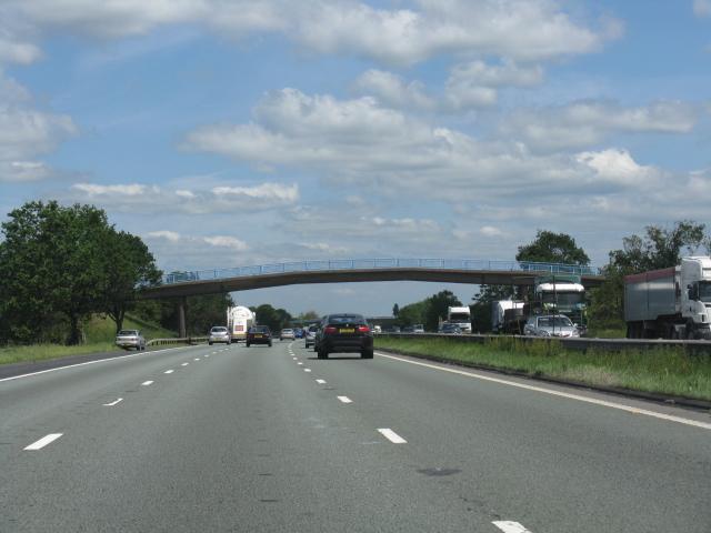 M6 motorway - Moss Farm footbridge