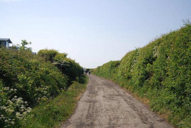 Old railway line near Seaview Caravan Park